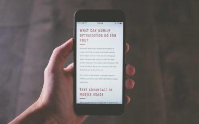 mobile optimization for websites